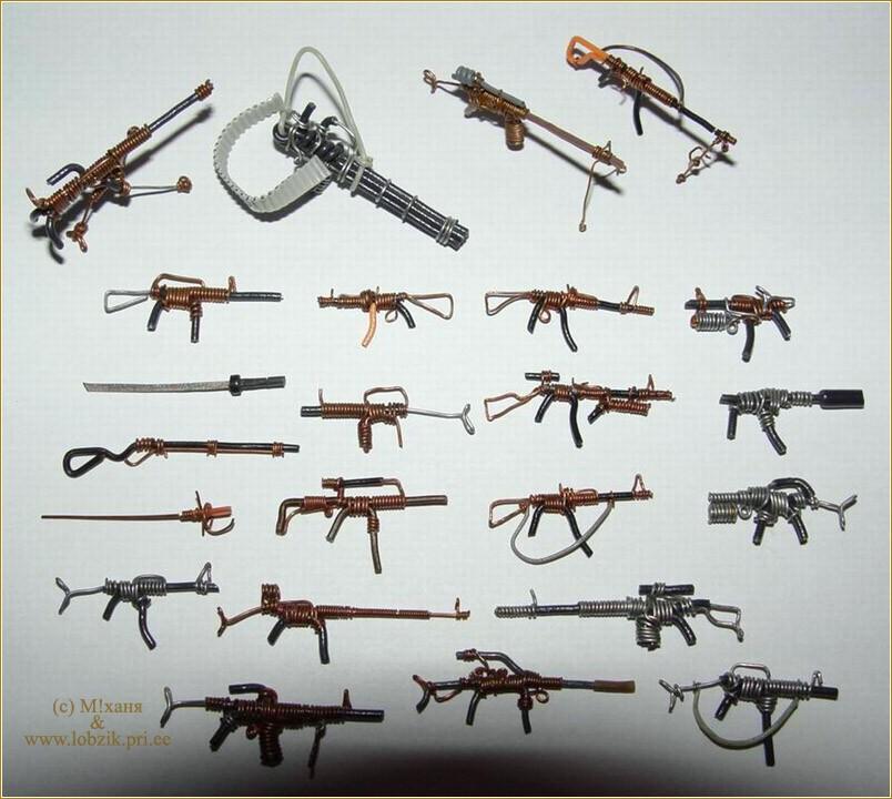 Игрушечные оружия своими руками