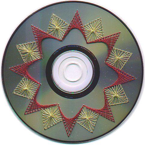 Вышивка на дисках схемы