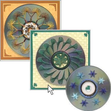 Изонить на CD-дисках
