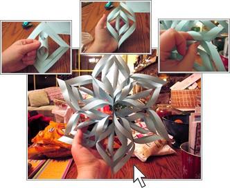Как сделать снежки из бумаги фото