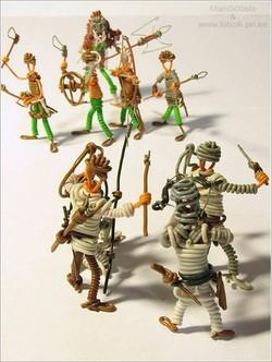 Telden minyat�r askerler