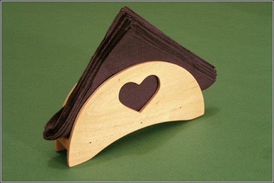 Подставки для салфеток из дерева своими руками