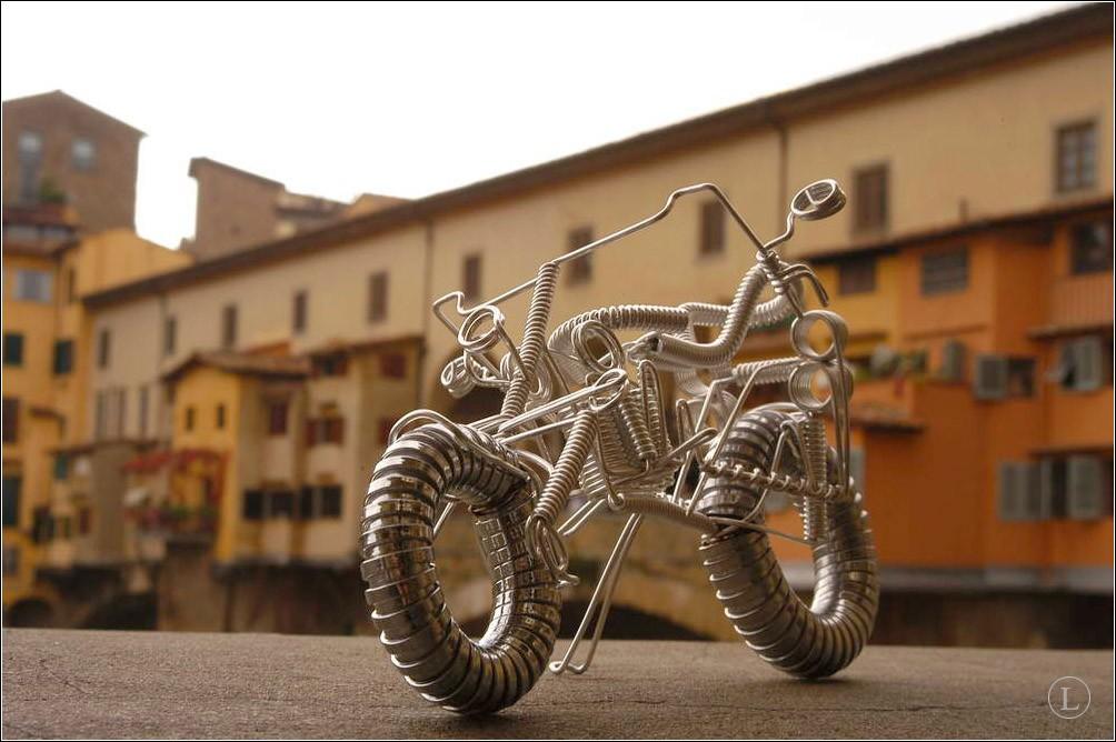 Мотоцикл из проволоки своими руками